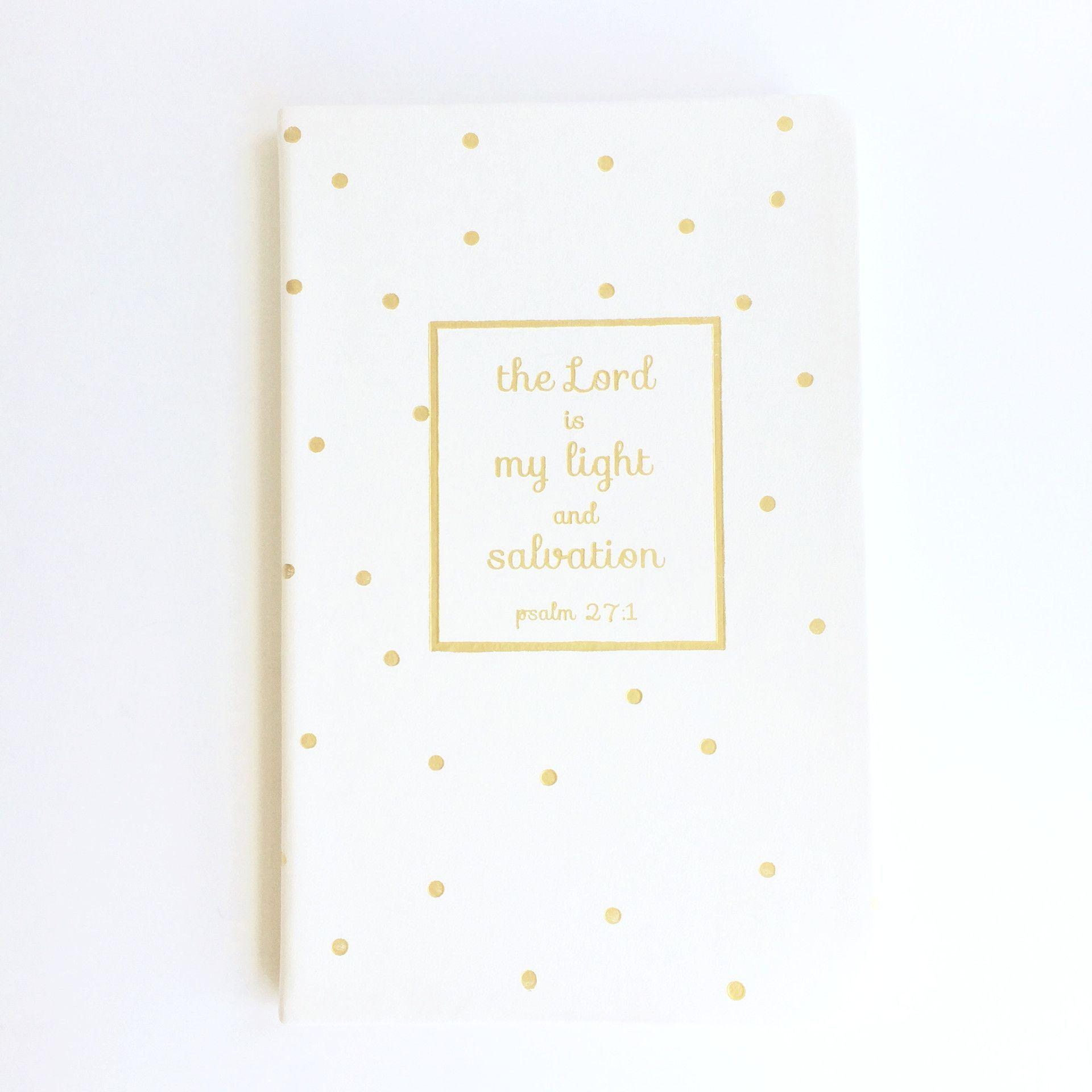 Gold Dot Bible Verse Journal Notebook