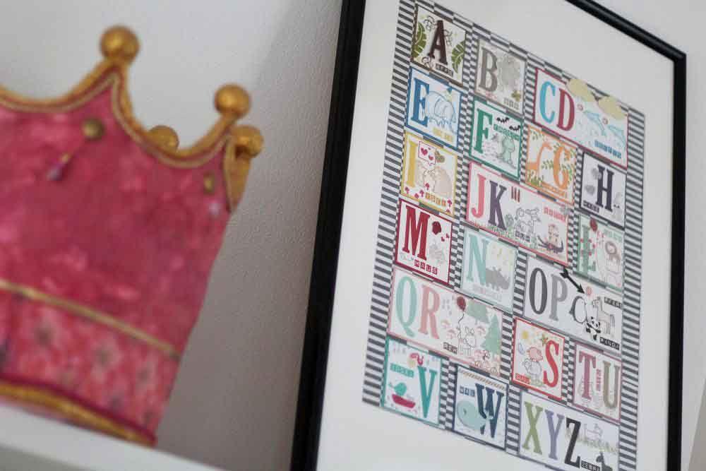 ABC Poster Stampin Up Kinderzimmer Deko Vorschule Kinder ...