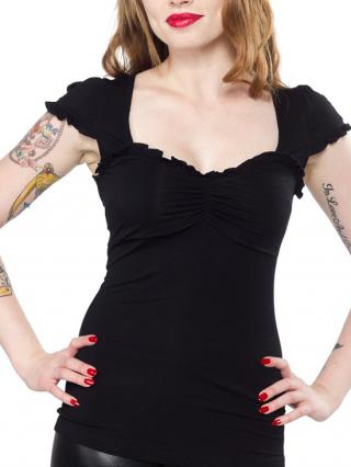 "Women's ""Vixen"" Top by Sourpuss Clothing (Black)"