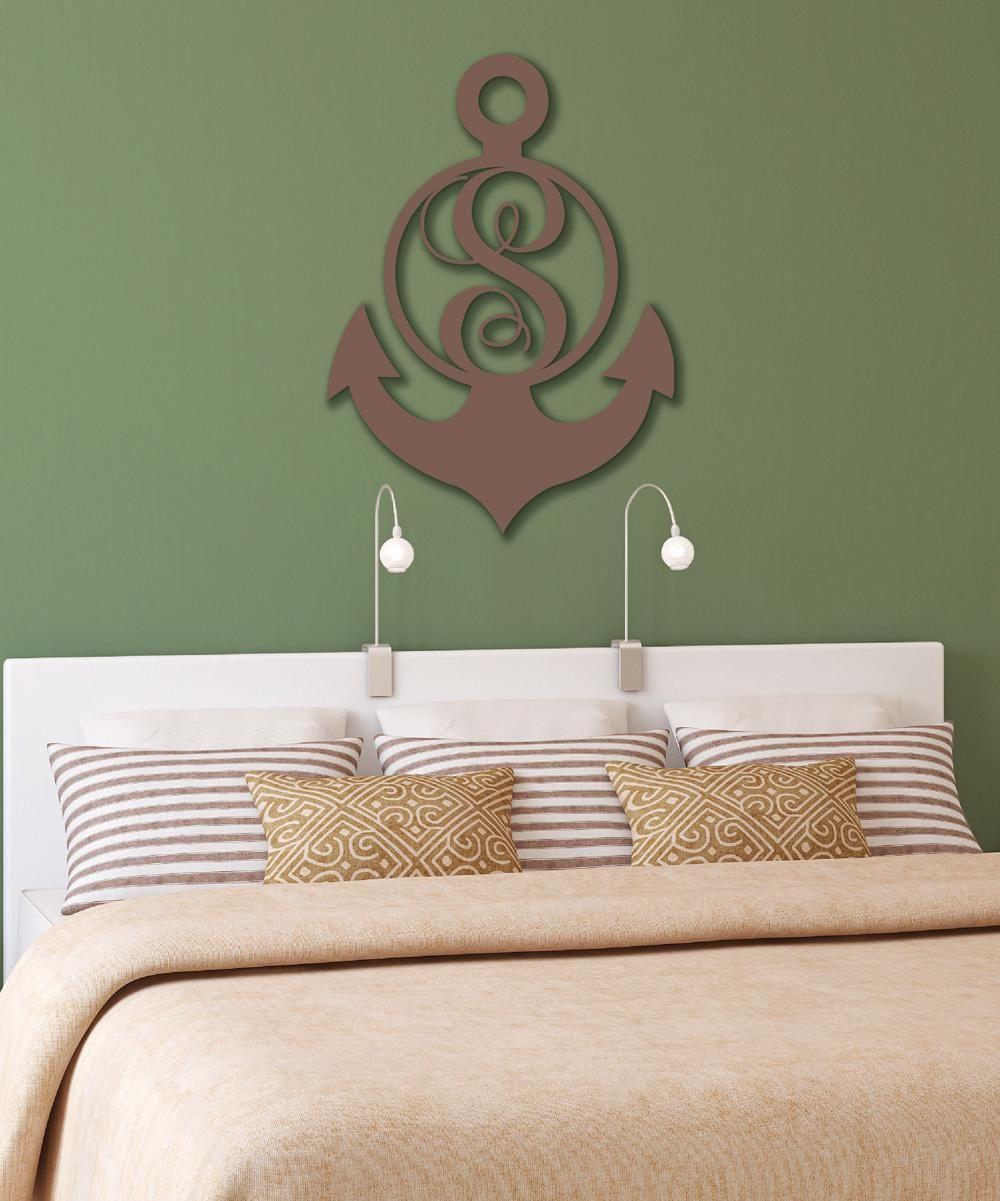 Initial Home Decor: Copper Initial Anchor Home Decor Wall Art #zulilyfinds