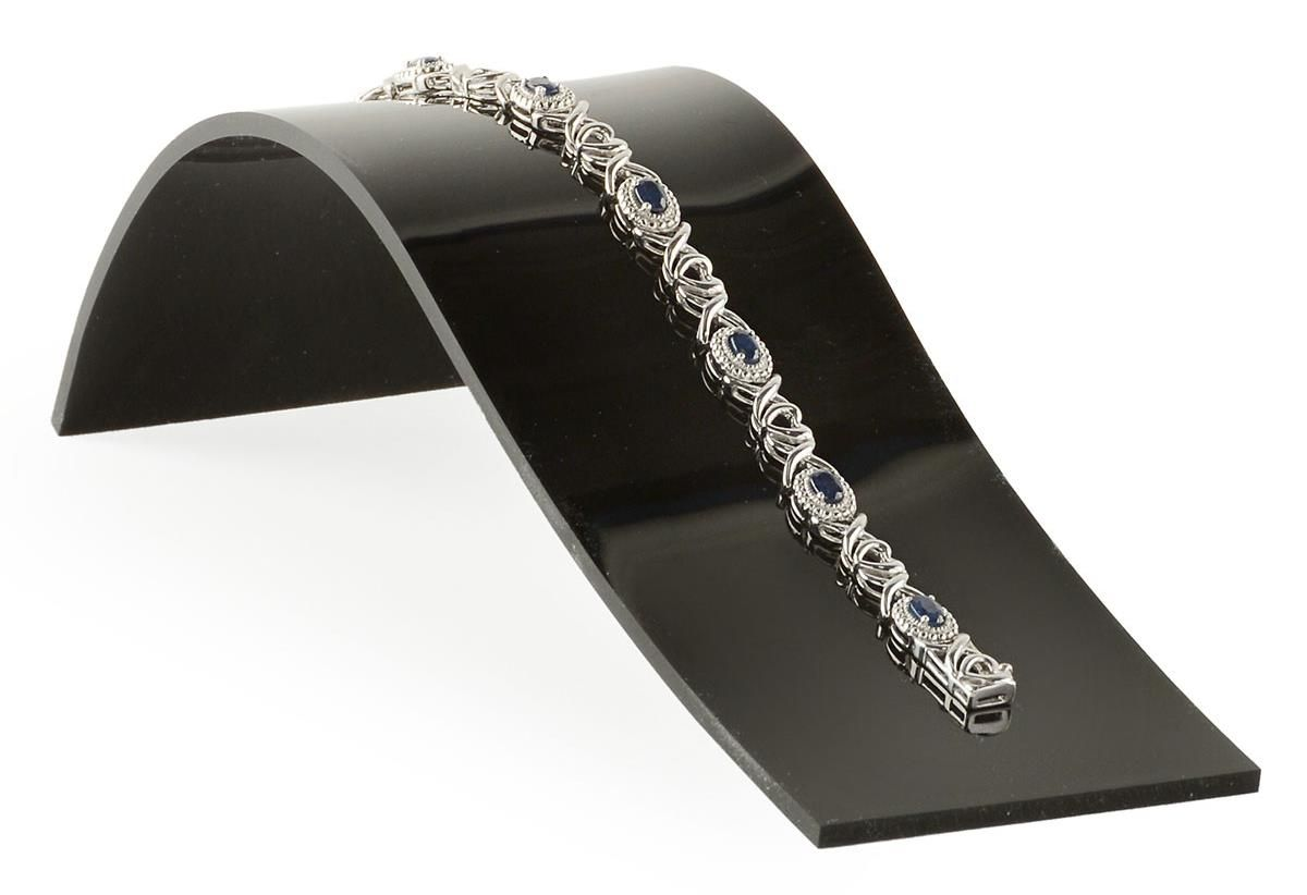 Large Jewelry Display Ramp For Bracelets Curved Design Acrylic Black Jewelry Jewellery Display Expensive Jewelry