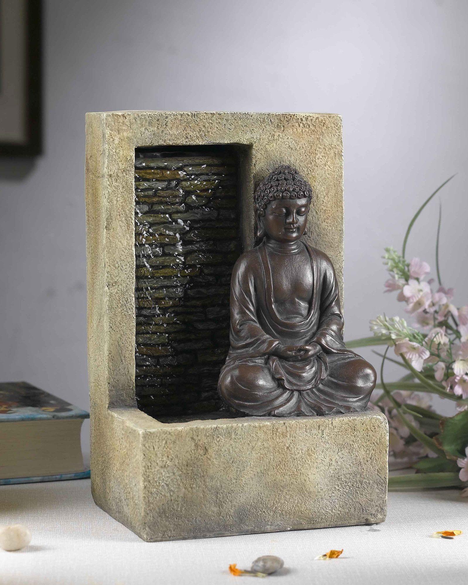 Resin Fiberglass Buddha Tabletop Water Fountain Indoor Waterfall Fountain Water Fountain Tabletop Fountain