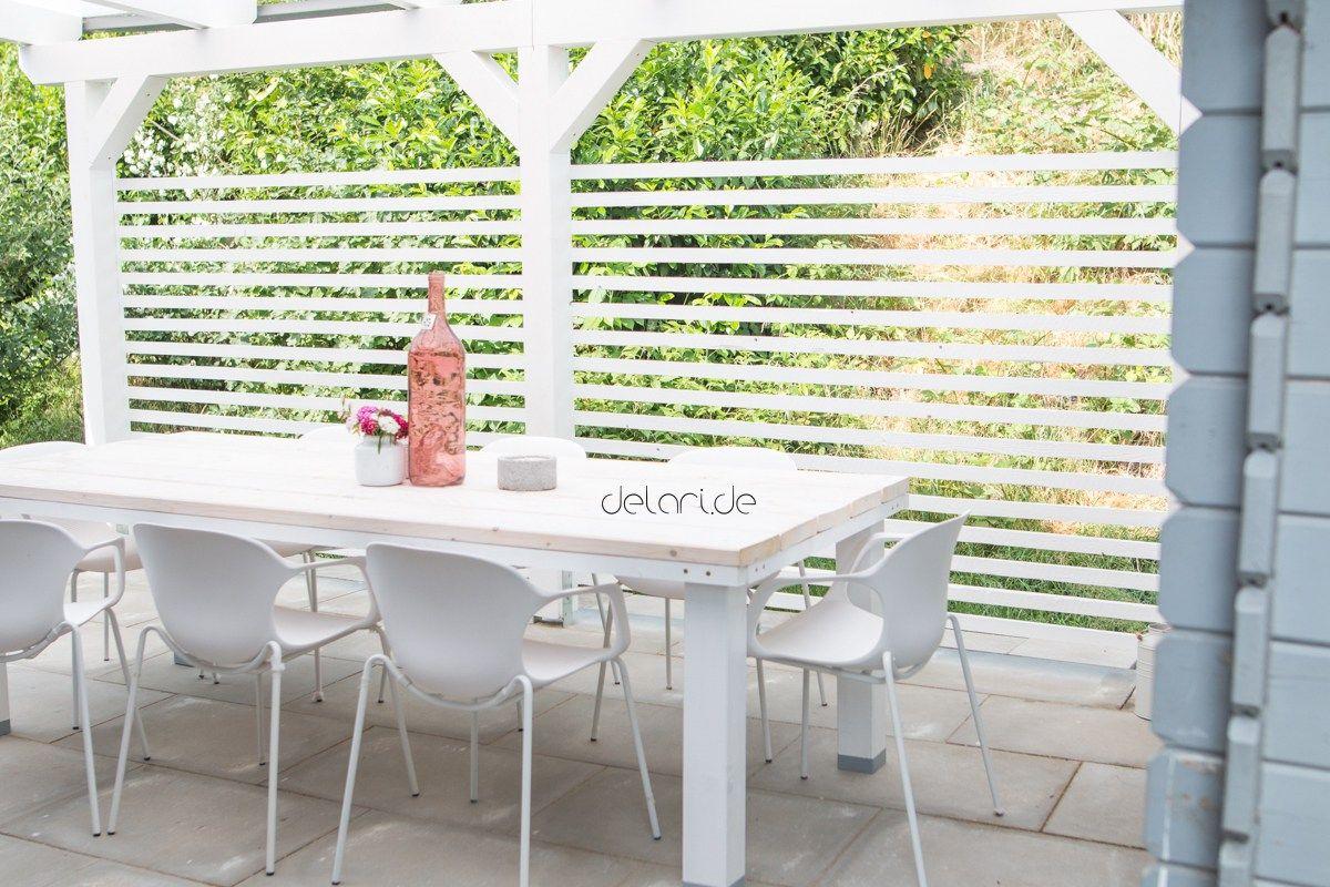 terrassenumrandung sichtschutz diy selberbauen materialliste