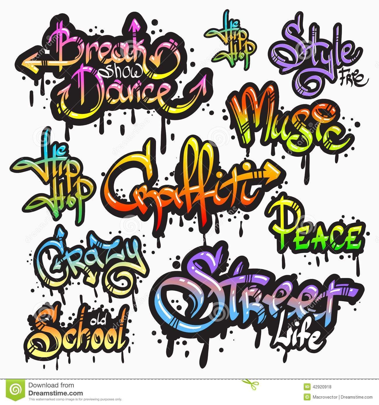 Graffiti Word Set Download From Over 40 Million High