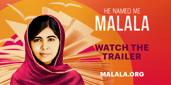 It's here! #WATCH Official trailer for #HENAMEDMEMALALA http://malala.org  a film abt Malala's incredible story