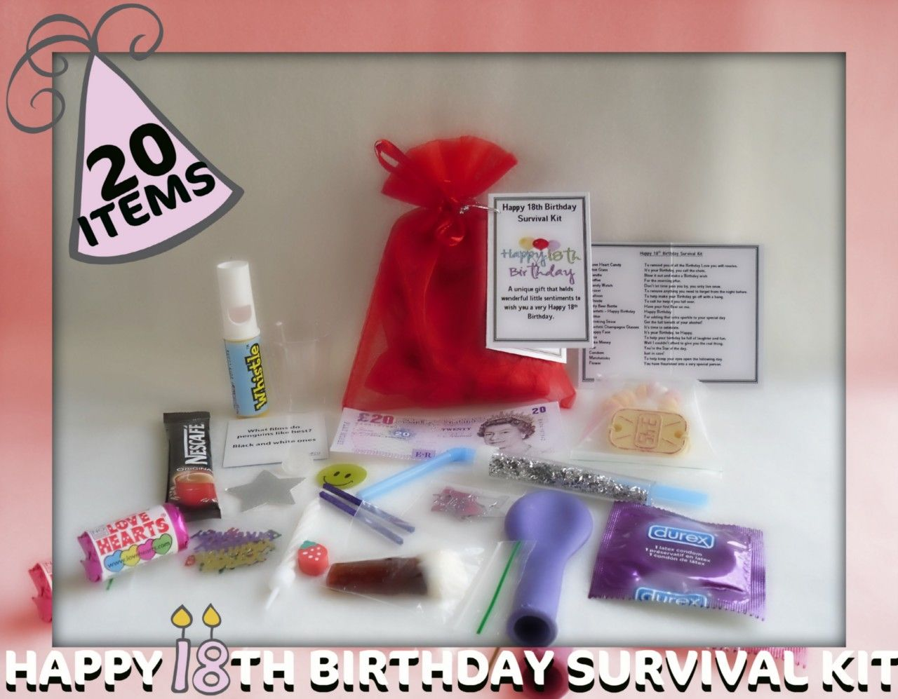 Details about Happy 18th Birthday Novelty Survival Kit. An ...