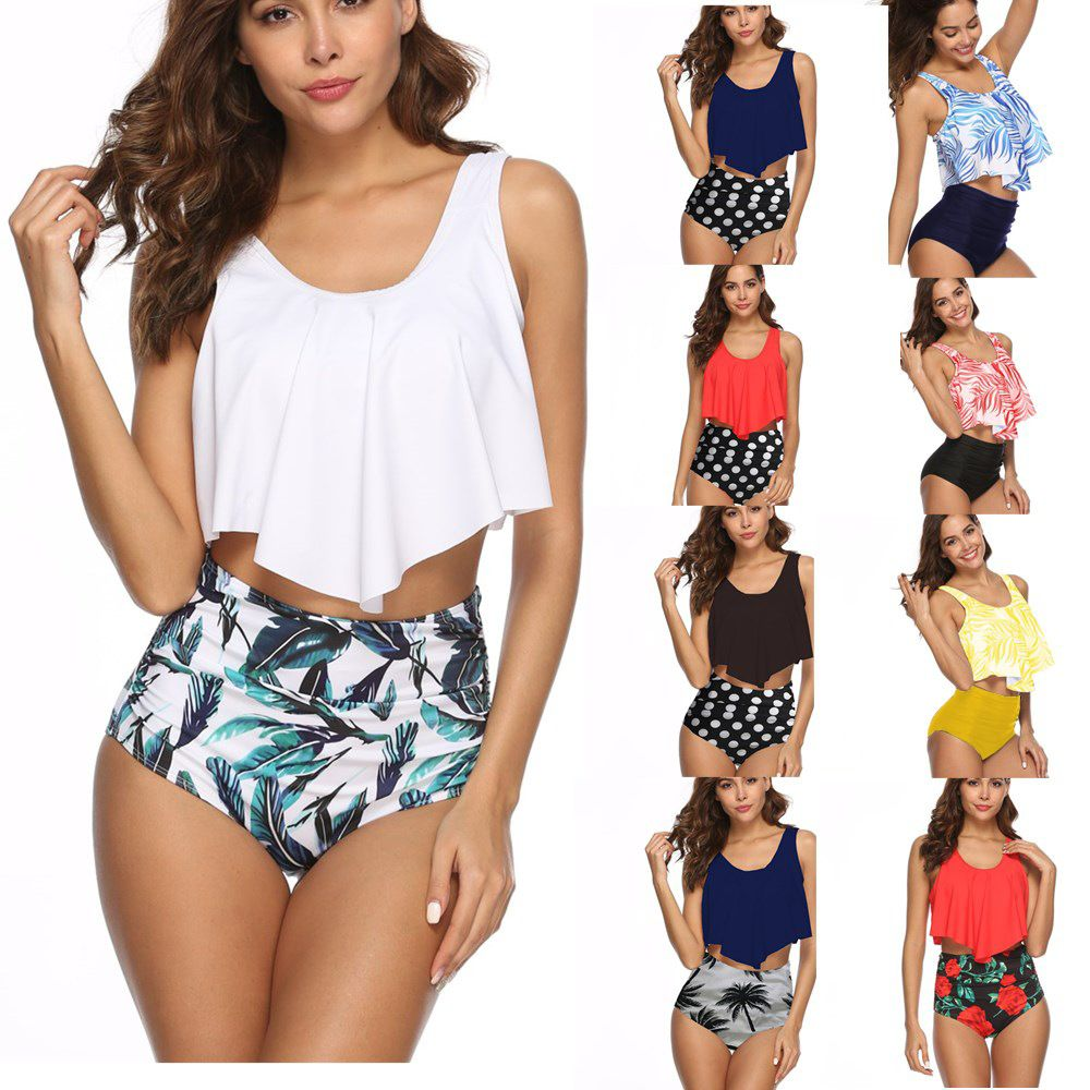 696b2651f9f70 2019 Sexy Bikini Women High Waist Floral Swimwear Two Pieces , Find  Complete Details about 2019