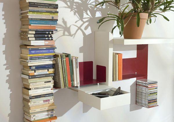 TEEbooks, The Almost Invisible Bookcaseb Photo