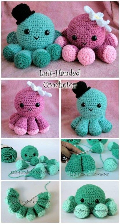 Cute Crochet Patterns Crochet Jellyfish 14 Free Crochet Patterns Diy Crafts - mycrochetes.com #crochetanimals