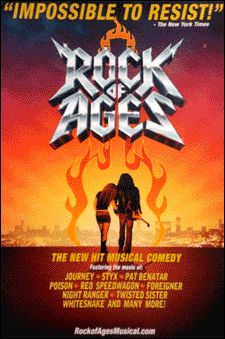 Rock Of Ages The Musical Broadway Poster Never Saw It On Stage But The Movie Was Hilariously Awful With Images Broadway Posters Broadway Musicals Posters Musical Movies