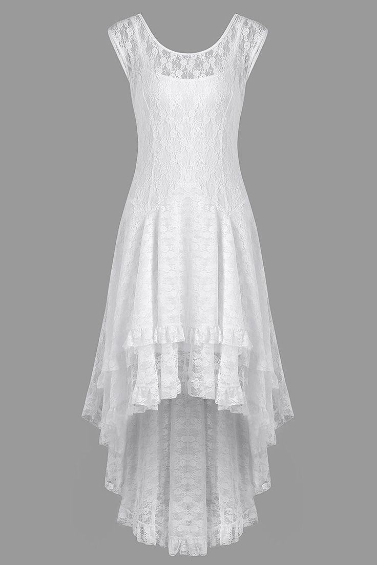 Tiered Lace High Low Dress White High Low Dress Cheap Lace Dress High Low Dress [ 1104 x 736 Pixel ]