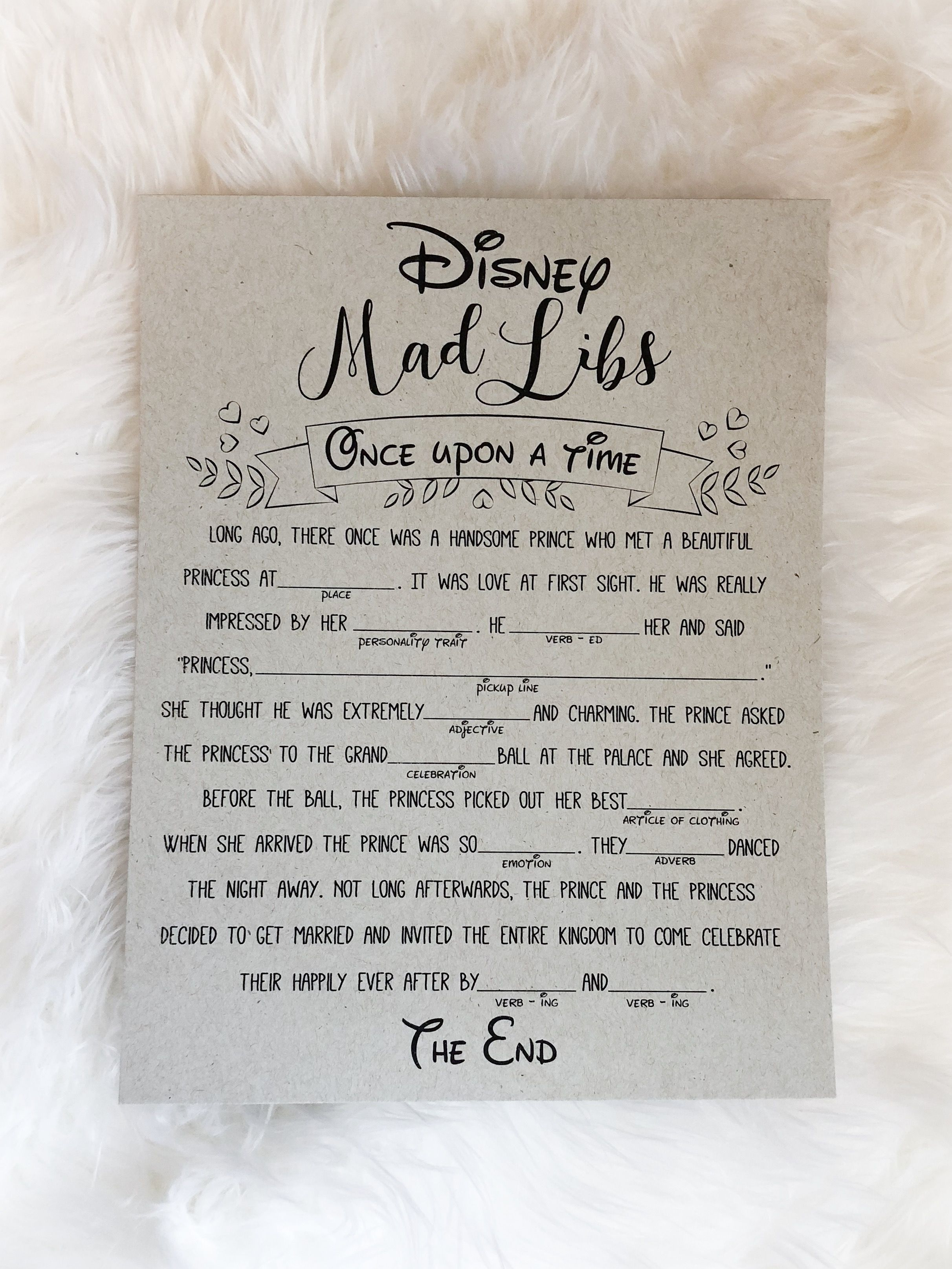 disney mad libs disney bridal shower games disney wedding disney bridal shower bridal