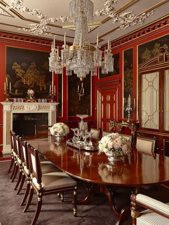 Elegante comedor decorando con estilo muebles de lujo for Muebles de comedor elegantes