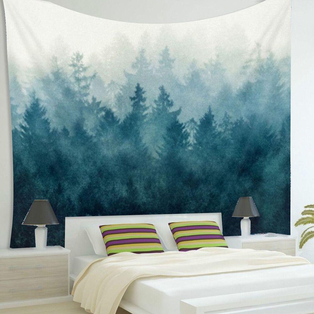 Details zu Hippie-Tapisserie Mandala Wandteppich Blau forest Tuch ...