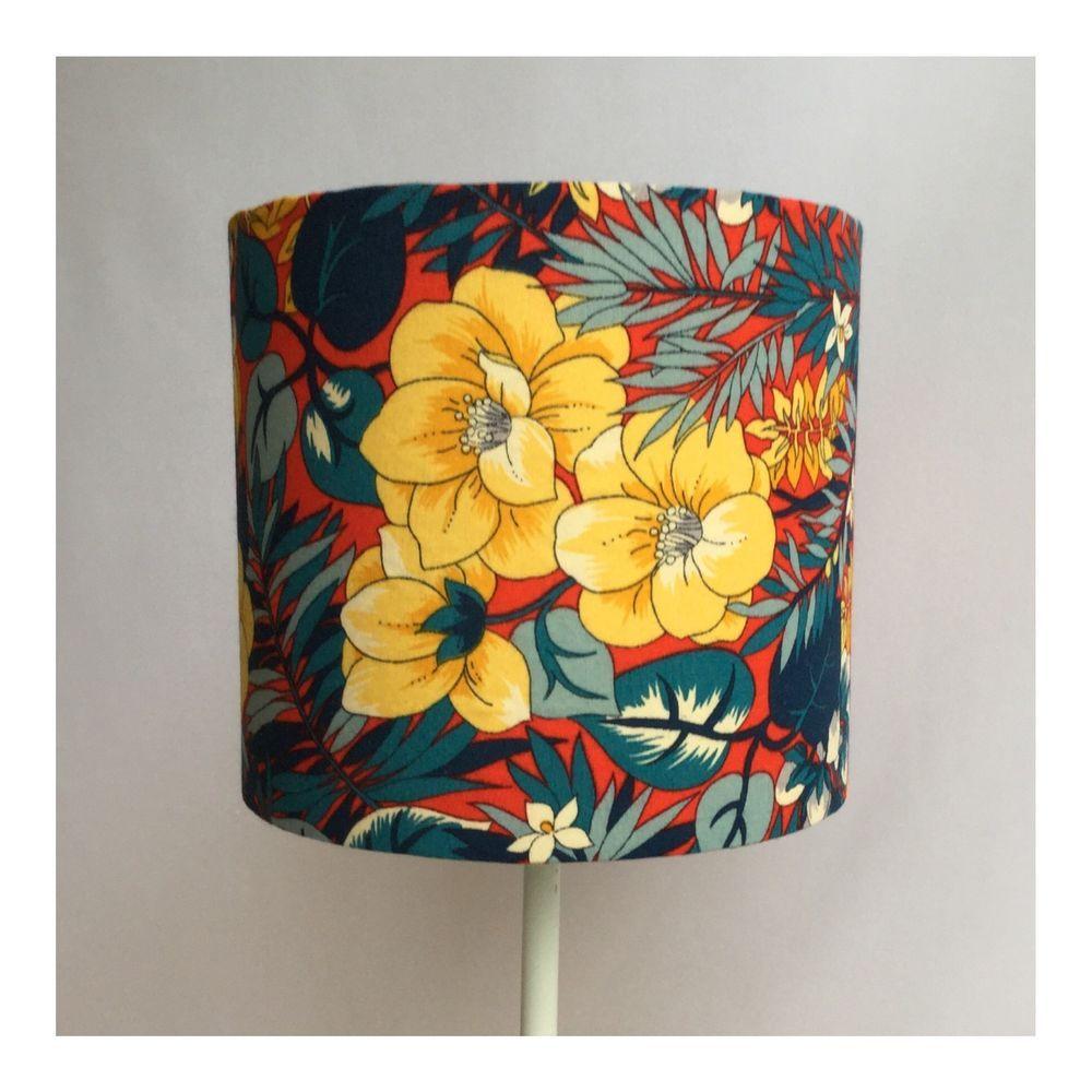 Handmade vintage 1950s floral fabric lampshade pin your ebay wares handmade vintage 1950s floral fabric lampshade aloadofball Choice Image