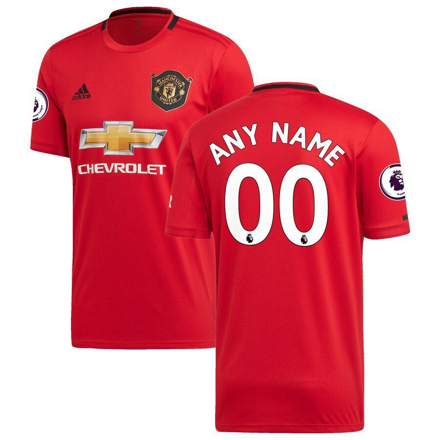 Manchester United Soccer 2019 20 Home Custom Jersey A Red Athletic Bilbao Unites