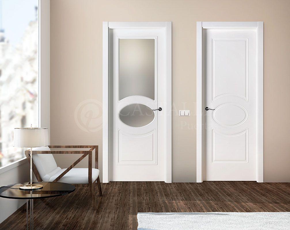 Puerta Lacada Blanco Con Molduras Retro Puertas Castalla