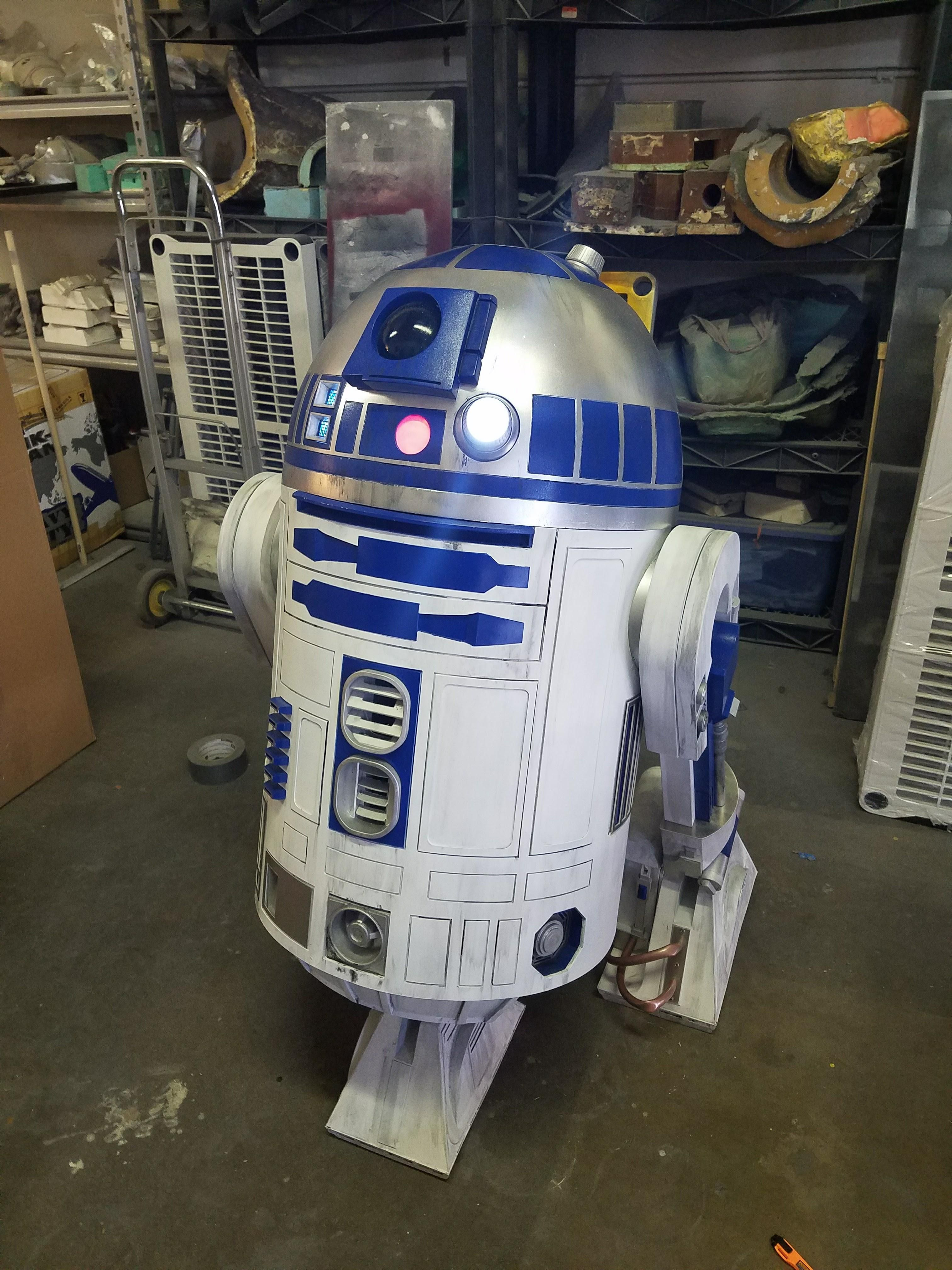 An R2D2 me and my dad made a couple years back. Its 1.1