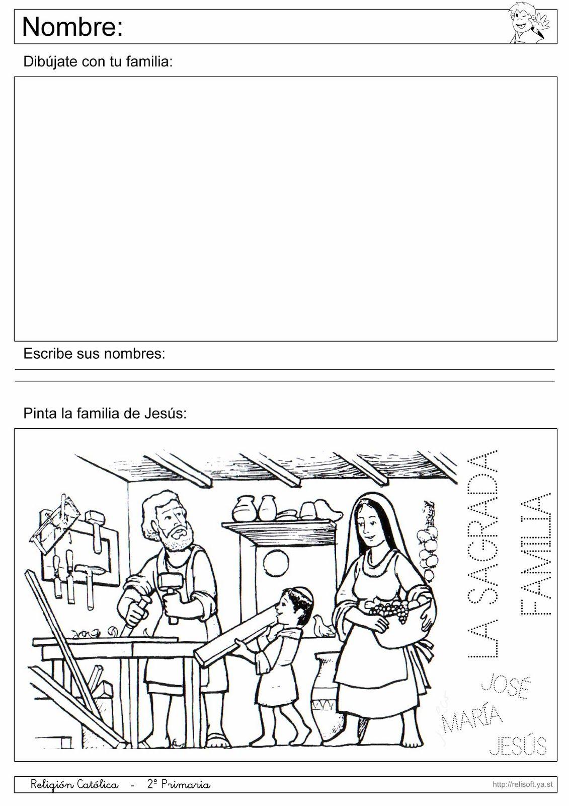 Recursos Religion Católica: Fichas 1º y 2º Primaria   religion ...