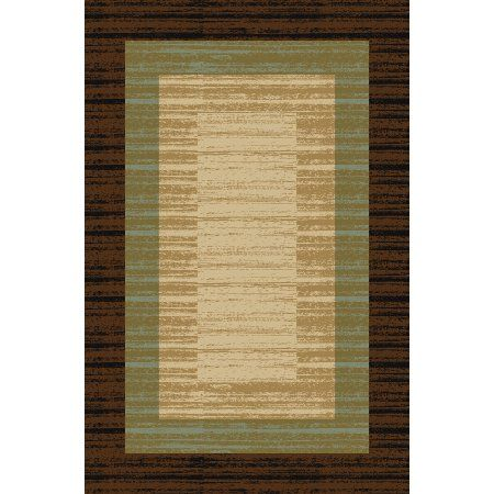 Maxy Home Hamam Collection Ha 5130 Non Skid Rubber Back Area Rug 39 Inch By 60 Inch 3 X 5 Brown Products Rugs Traditional Area Rugs Floor Rugs