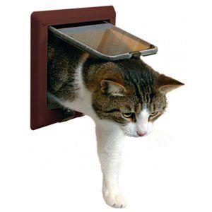 Cat door German TRIXIE 4WAY flap cat door Tunnel gray: tri38642: Pet supplies abroad