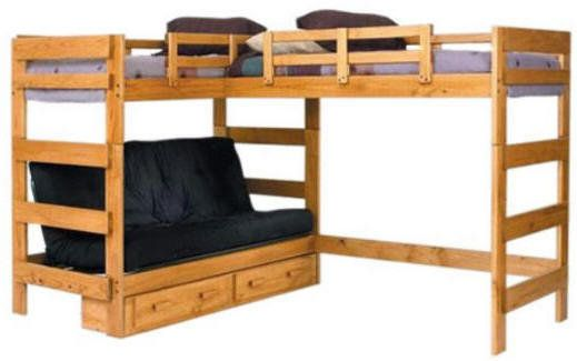 Boone Sleeps 3 or 4 Higher L-Shape Loft Bed - Pretty sweet! Good ...