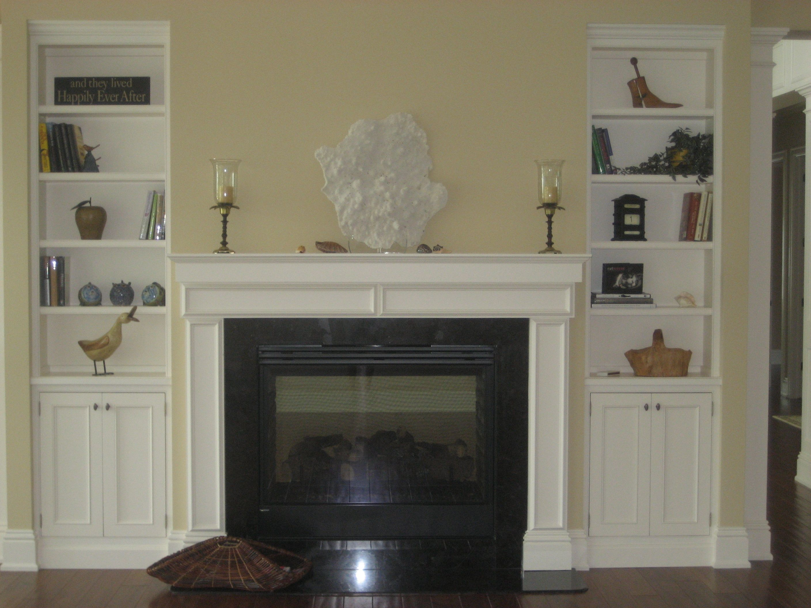 Faux Fireplace With Bookshelves Ideas