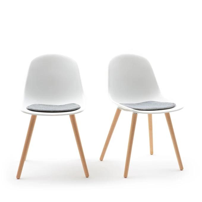 Lot De 2 Chaises Assise Coque Wapong En 2020 Chaise Chaises Bois Chaise Design