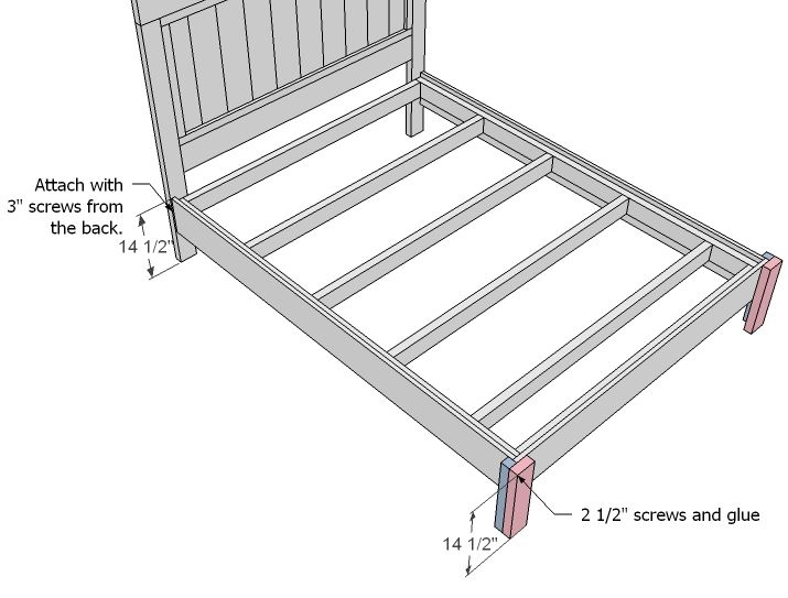 Simple twin bed frame blueprints fancy farmhouse bed free and easy diy project and - Simple twin bed frame plans ...