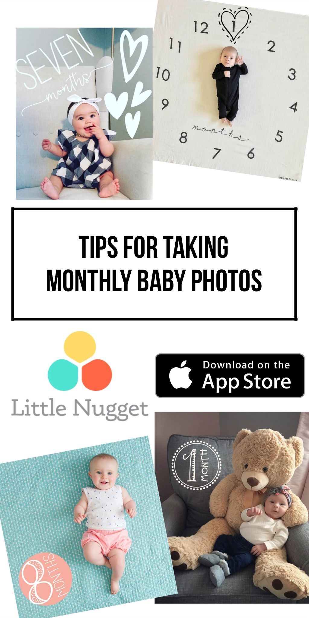 Tips for taking monthly baby photos We love seeing your babies