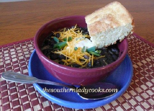 Crock Pot Black Bean Soup -TSLC #crockpotgumbo