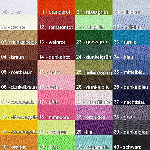 10 Meter Insert Piping Cord Cotton Bias Cord in 40 Colours
