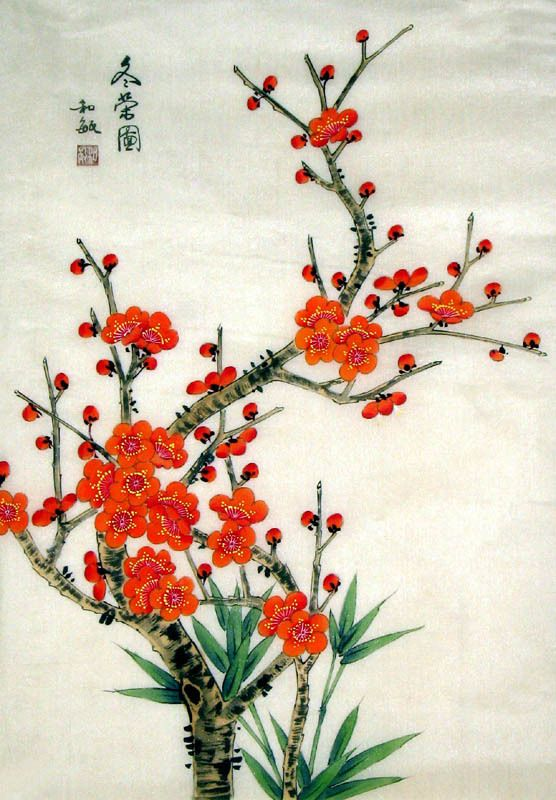 Chinese Plum Blossom Painting By Ling Xue It Is Painted