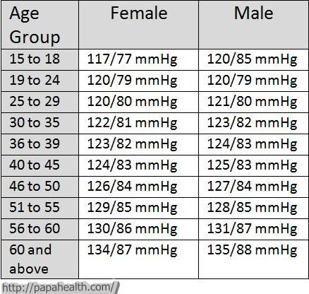 Image result for blood pressure chart by age and gender pdf health