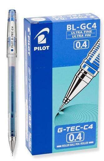 Pilot Hi-Tec-C gel pens 0.25mm 2 blue pen