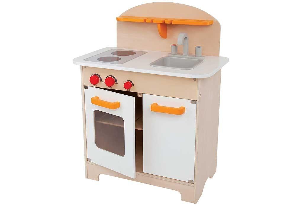 Cuisinière en bois enfant Hape avec le point chaud (four,plaques ...