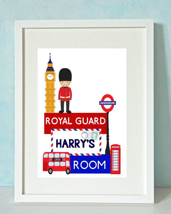 ROYAL GUARD Kid's Custom Print by  Rock Maple Sugar on Etsy, €13.00