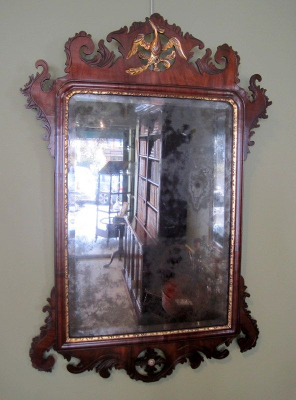 Large George III Fret Frame Wall Mirror-A very fine and large size ...
