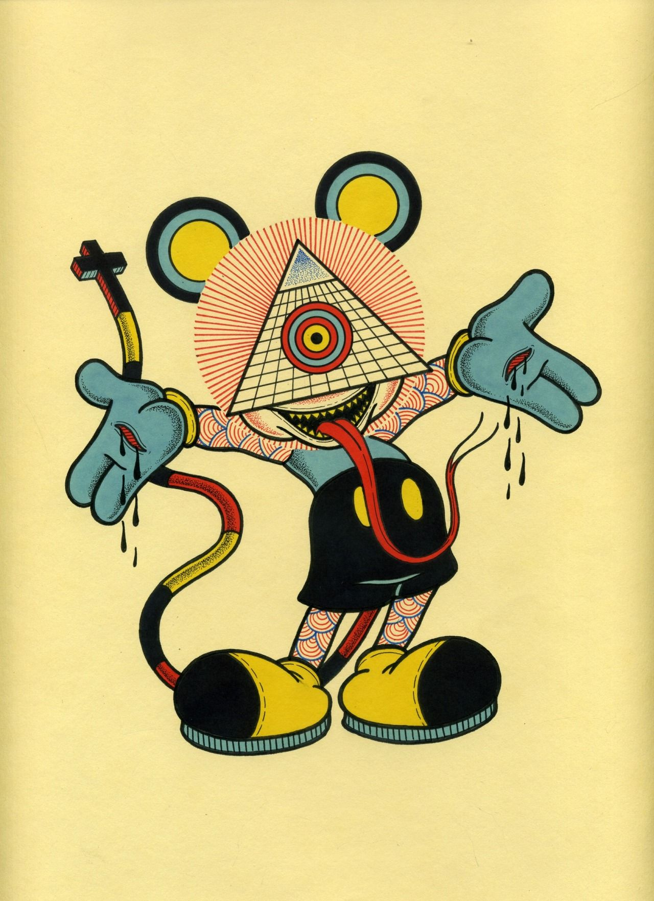 one eyed mickey mouse by david m cook aka bonethrower cyclops