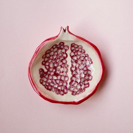 Pomegranate Ceramics - Art Modern #ceramicart