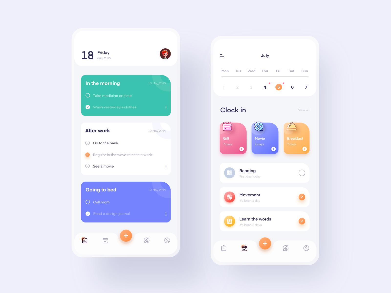 Notepad application Android app design, App design