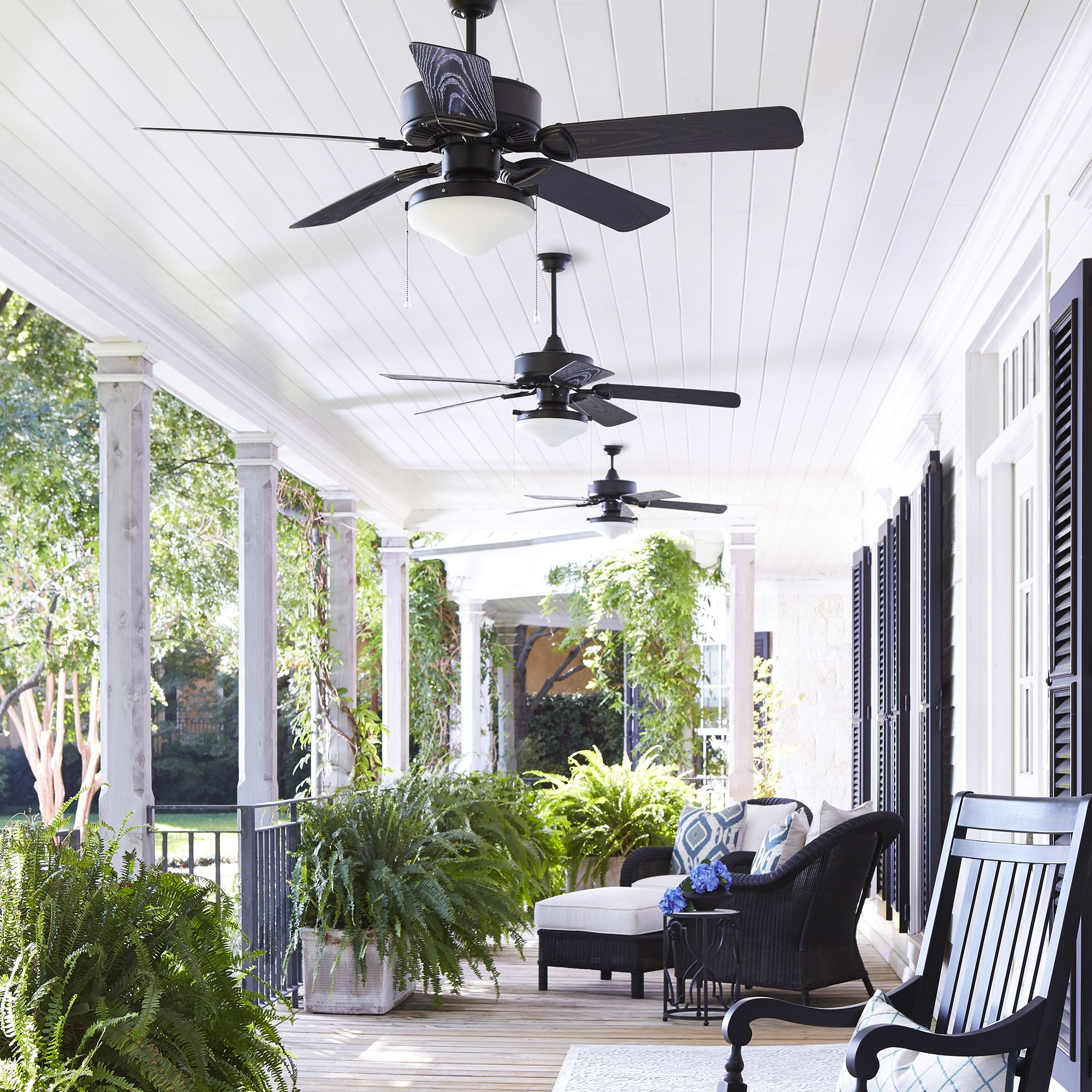 Quorum Estate Patio Fan With Light Kit In 2020 Patio Fan Outdoor Ceiling Fans Best Outdoor Ceiling Fans