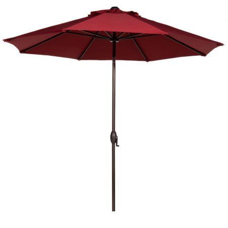 Abba Patio 9 Ft Fade Resistant Sunbrella Fabric Aluminum Umbrella With Auto Tilt And