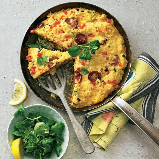 Reis-Tortilla mit Chorizo und Paprika | Rezept | Rezepte