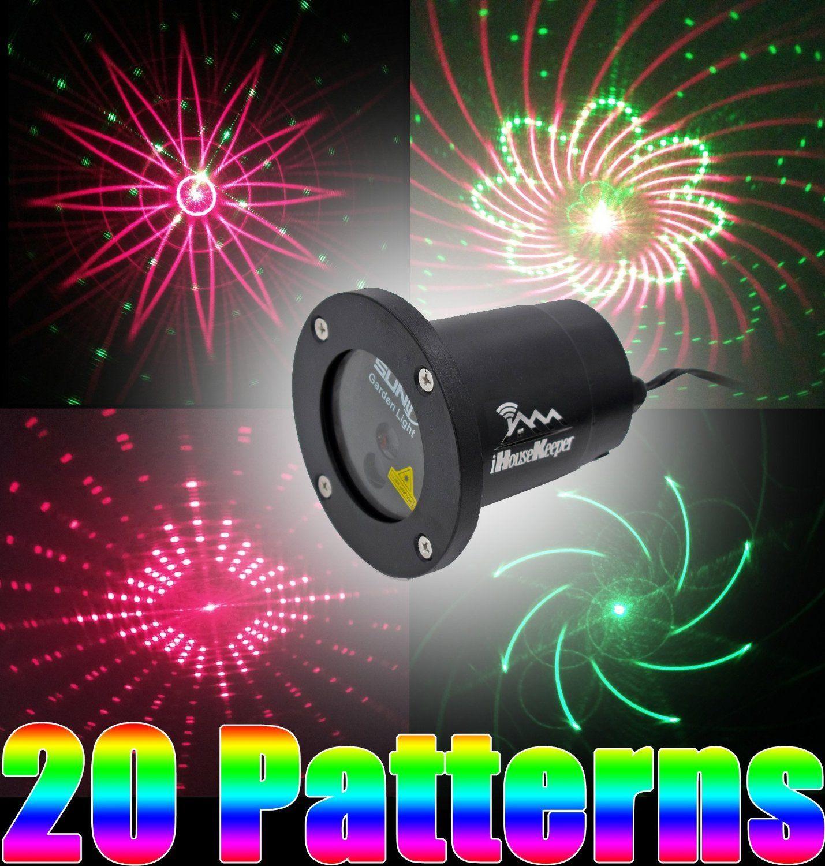 amazoncom laser light show projector christmas outdoor garden for parties ihousekeeper ls05