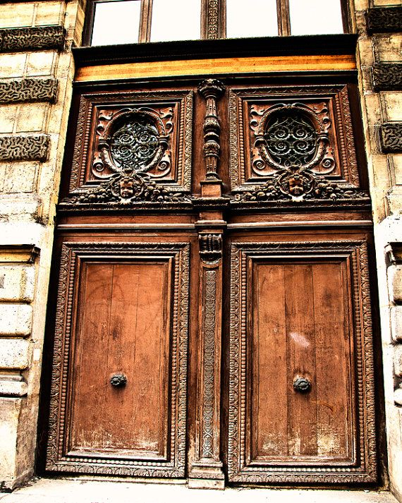 Photograph of rustic brown door in Montmartre Paris France by Tracey Capone & Photograph of rustic brown door in Montmartre Paris France by ...