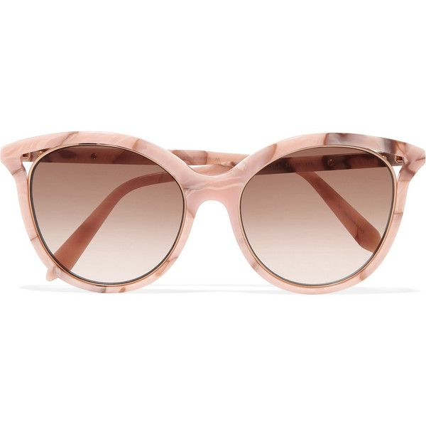 429524eca8735 Victoria Beckham Cat-eye acetate sunglasses (6,885 MXN) ❤ liked on Polyvore  featuring. Óculos De Sol ...