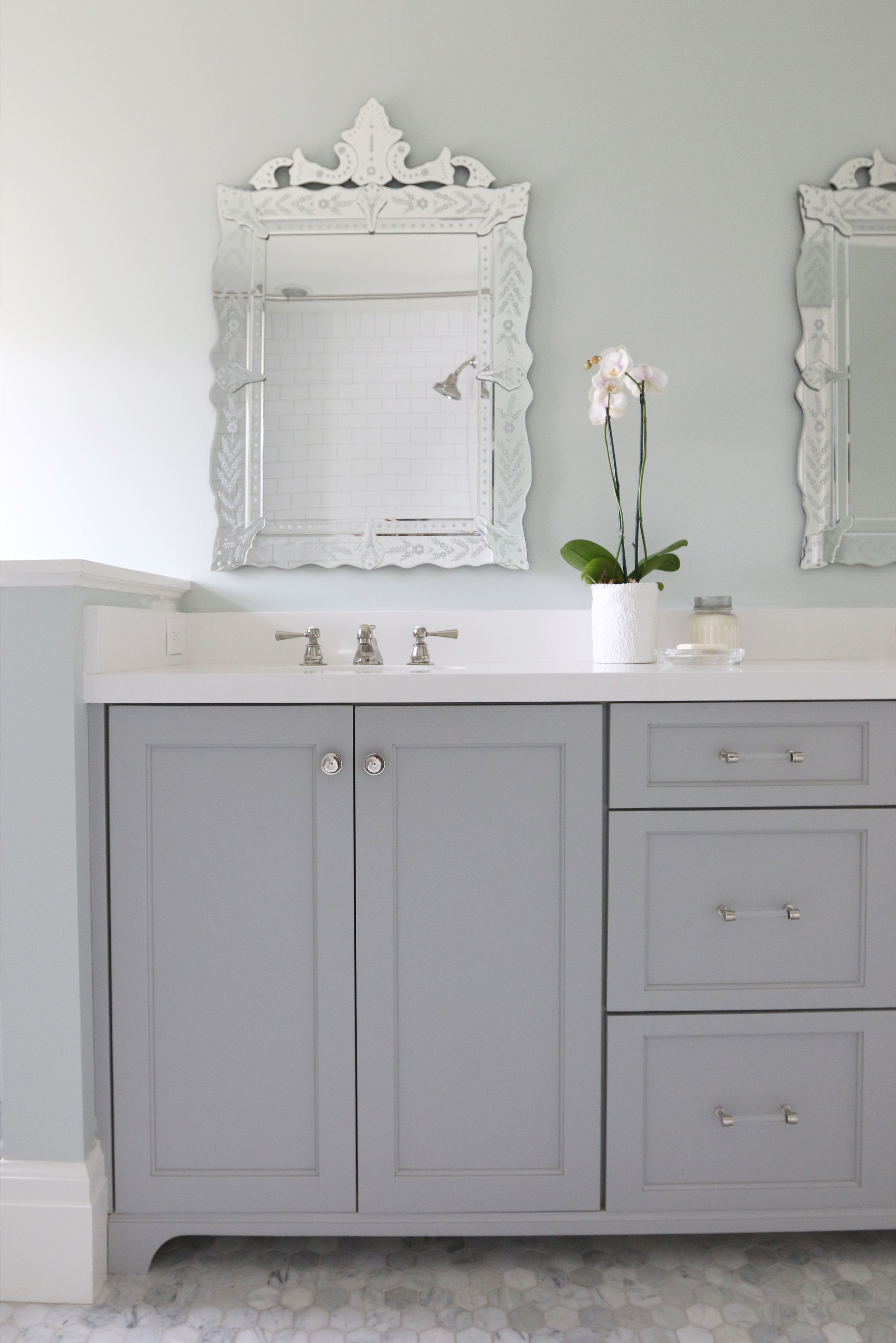 Best The Midway House Guest Bathroom Grey Cabinets Cabinet 400 x 300