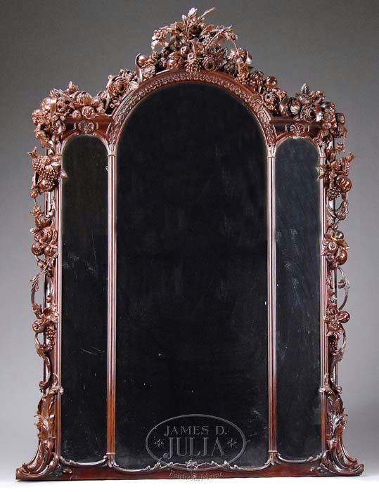 c1860 Rococo mirror, NYC, rswd grain, 94t, 05-4.   Style - Rococo ...