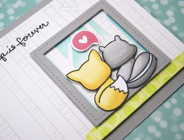 the Lawn Fawn blog: A Sweet Friendship Card by Yainea!
